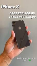 Iphone X 64 GB e 256 GB Semi Novo