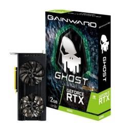 Placa de Vídeo RTX 3060 12Gb Gainward Ghost OC, nova (lacrada) Nf e garantia