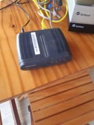 Aparelhos diversos, parabólica, roteador, aparelho Internet, da Orbisat