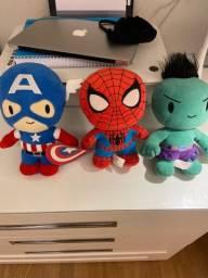 Pelúcia Marvel super heróis 23 cm