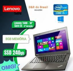 Notebook Lenovo T440 - i5 4 Geração - 8GB Ram - SSD240 GB