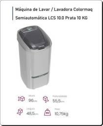 Máquina de lavar roupas semiautomática 10kg lavagem econômica - NOVA