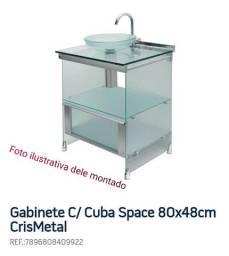 Armário de banheiro de vidro