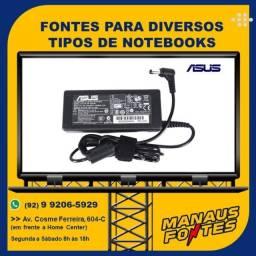 Carregador do Notebook Asus Ponta Fina com Garantia