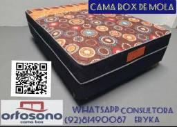 Cama Box casal com mola