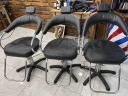 Cadeiras de cabeleireiro barbeiro