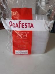 Título do anúncio: 3 pacotes com embalagens retangular de 750 ml