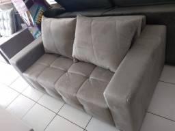 Sofá cama direto da fabrica no tecido veludo e espuma d33