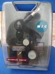 microscópio vintage tokyo olympus MIC original