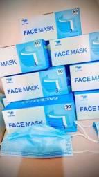 Máscaras Descartáveis - Cx com 50Und - Proteção Facial Tripla Camada