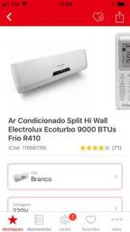 Vendo ar condicionado Electrolux 9000 BTUs
