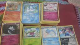 Cartas pokemon 250 + 7 raras R$70,00