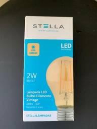 Lâmpada Led bulbo filamento vintage Stella