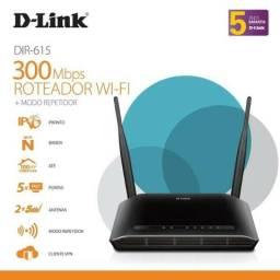 Roteador D Link Wireless N 300mbps Dir-615 + Modo Repetidor Wifi