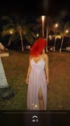 Vestido maravilhoso rosê festa