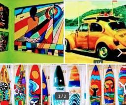 Pranchas Recicladas  Surf Decorar   Fusca <br>ZAP *<br>Decoraçáo