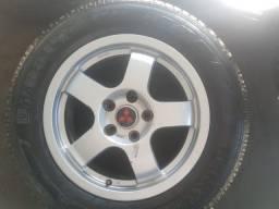 Rodas tr4 civic com pneus