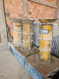 Formas para tubos de concreto macho/femea armado e não armado