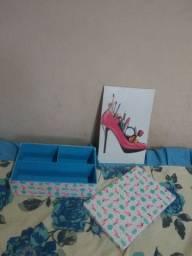 Quadro decorativo e caixa organizadora em MDF 3mm