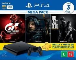 Console Playstation 4 1TB Slim + 3 Jogos Bundle - Conforme Imagem