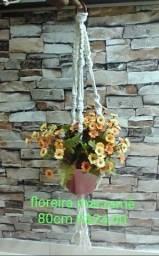 floreira macrame 80cm