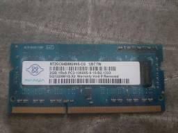 Memória RAM DDR3 2GB para Notebook vendo ou troco por uma DDR3 de PC 2GB