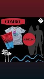 kit Camisa multimarcas e bermuda elastano