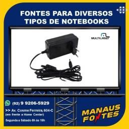 Fonte do Notebook Multilaser Ponta Fina com Garantia