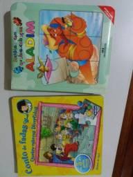 Livros pedagógicos com quebra-cabeças
