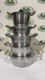 Panela de alumínio batido tampa leve