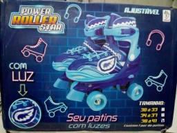 Patins Roller Star com Luzes tamanho 38 ao 41