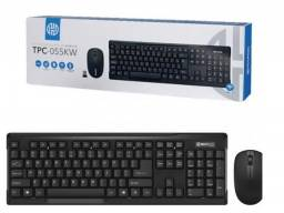 Kit Teclado E Mouse Sem Fio Wireless 2.4ghz Tpc-055kw