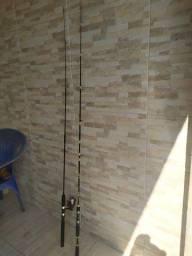 Duas varas de pesca e um molinete R$120.00