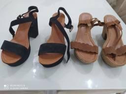 2 Sandálias semi novas 38