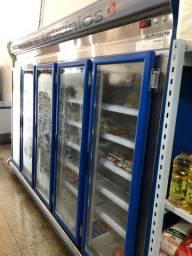 Expositor de frios Refrimate 5 portas