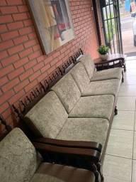 Sofá recepção escritório 4 lugares + 1 poltrona