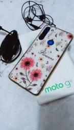 Moto g8 completo com 5 meses de uso