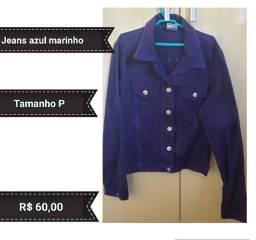 Jaqueta jeans azul marinho