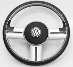 Volante rallye para linha Volkswagen (GOL) com emblema e cubo