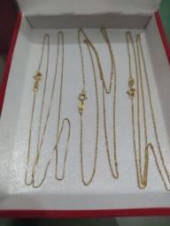 Correntes ouro 18k, feminina (JANAÚBA-MG)