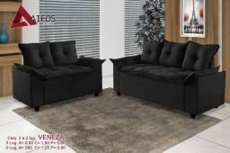Sofa 2 e 3 lugares Veneza - Frete grátis / Peça e receba hoje