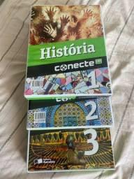 Título do anúncio: Livro de História Conecte Lidi volumes 1, 2 e 3