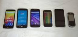 Vendo 6 celulares. Zap 9.9.8.1.5.4.1.7.1