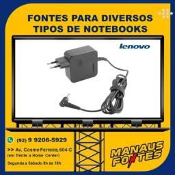 Carregador do Notebook Lenovo Ponta Fina com Garantia