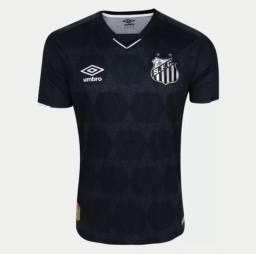 Camisa SANTOS III SOTELDO n° 10 - Torcedor UMBRO - Preto e Prata #SANTOSFC<br><br>