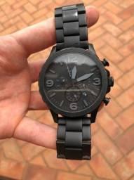 Relógio Fossil Masc. Preto Fosco Modelo Jr1401/4pn