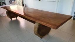 Mesa Rústica de Madeira Garapeira 400X97