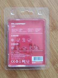 Adaptador De Rede Wi-fi Dual Band 2.4/5ghz 1300mbps Usb 3.0