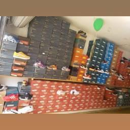 100 pares tenis lote completo para sua loja