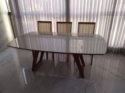 Título do anúncio: Mesa de madeira maciça retangular